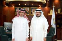 Rector and his Vice for Educational and Academic Affairs Receive the Acting Dean of Preparatory Year