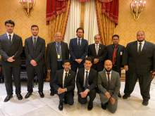 The Ambassador of the Custodian of the Two Holy Mosques in Italy Receives the Participating Delegation from PSAU in the Youth Forum and Future Industry