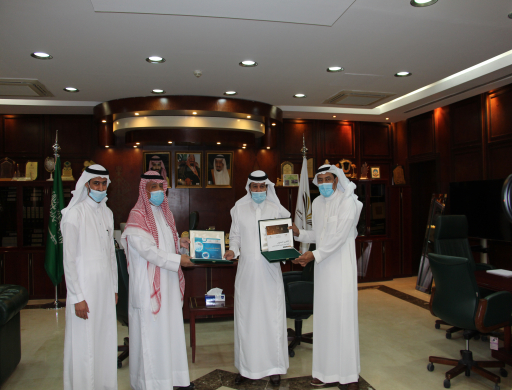 Rector Receives the Annual Report of the Applied Medical Science College for the Academic Year 1440-1441 AH