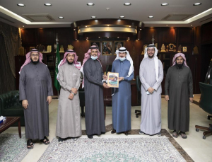 Rector Receives the Annual Report of Sciences and Humanities College for the Academic Year 1442AH
